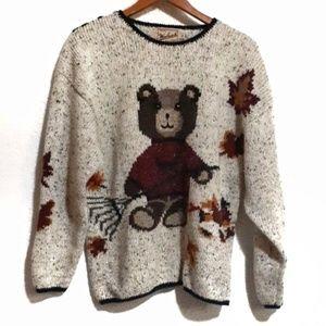 Vintage Woolrich Bear Sweater M